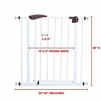 Extra-Wide Baby Toddler Child Safety Gate Easy Step Walk Thru Gate Pet Dog Fence