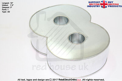 """Number Cake Baking Tin Rounded Corner   Small   3"""" Deep ( Number 8 )"""