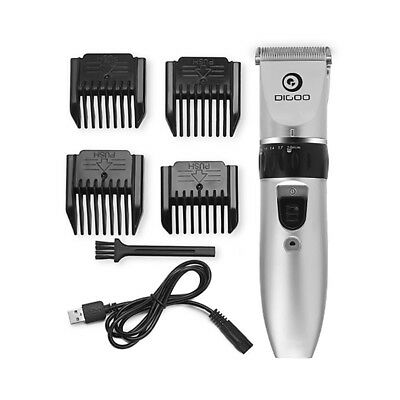 Digoo Men's Cordless Rechargeable Hair Clipper Trimmer Electric Shaver  +4 Combs