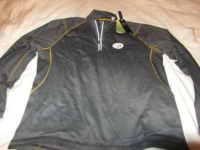 e47cbc999 Tommy Bahama Pittsburgh Steelers Mens Double Eagle Golf 1 4 Zip Jacket M   118