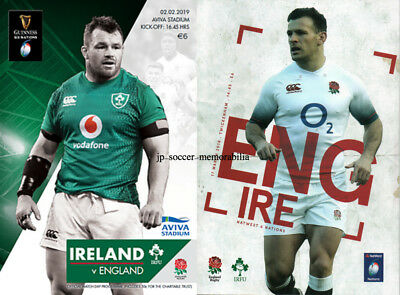 Ireland v England - Guinness Rugby Union 6 Six Nation's - 02 February 2019 BONUS
