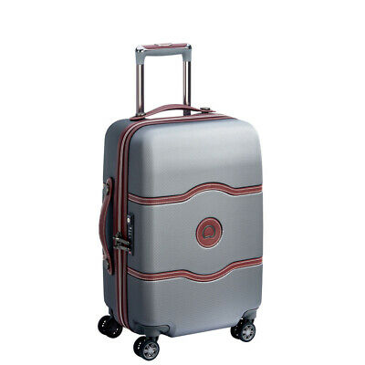 NEW Delsey Chatelet Air Wheelaboard Spinner Case Silver