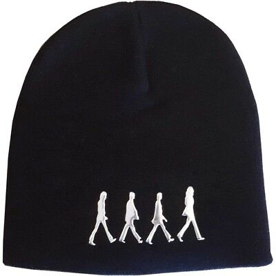 db6b68a239597 The Beatles Official Mens Black Beanie Hat With Sonic Silver Abbey Road Logo