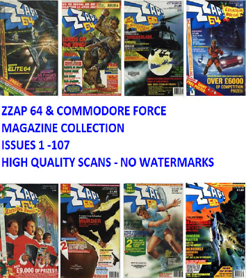 ZZAP 64 & Commodore Force Complete Magazine Collection of Magazines on DVD PDF