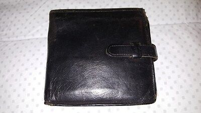 Coach Vintage Black Leather Wallet Bifold With Snap Pocket