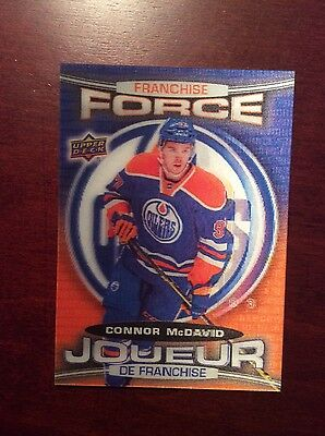 16-17 UD Tim Horton FRANCHISE FORCE MCDAVID, PLATINUM PROFILE, BASE SET AND MORE