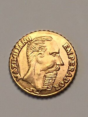 MEXICO 1865 MAXIMILIAN Mini GOLD COIN. Free Shipping