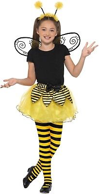 Girl/'s Manchester Bumble Bee Fancy Dress Tights Celebration Of Life Events Party