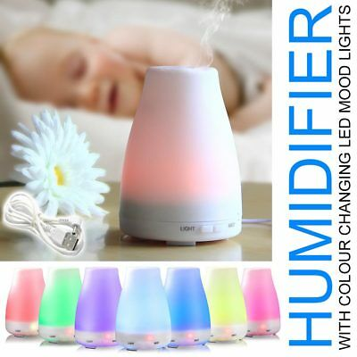 Ultrasonic Aromatherapy Essential Oil Diffuser Cool Mist Quiet Room Humidifier