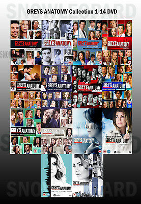 GREY'S GREYS ANATOMY Complete Collection 1-14 DVD All Seasons UK Release NEW R2
