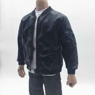 1/6 Scale Black Fashion Men Jacket Coat for 12'' Hot Toys Male Figures Doll