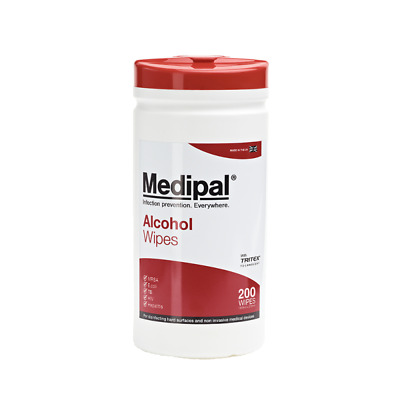 70% IPA Medipal Medical Alcohol Surface Wipes Rapid Disinfect First Aid Red Lid