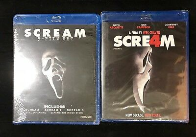 The Complete Scream Collection Lot (Blu-ray, 2011, 6-Disc Set) Factory Sealed