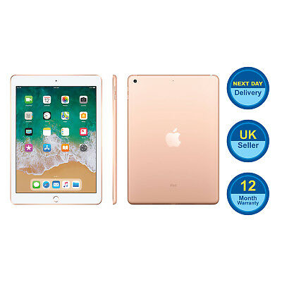 New Apple iPad 6 9.7 Inch 32GB 6th Gen WiFi Only, Gold - (2018)