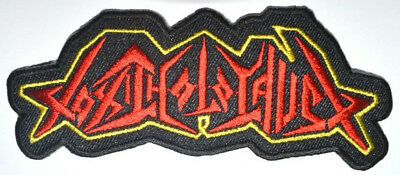 Embroidered TOXIC HOLOCAUST Logo Band Badge Rock Heavy Iron Sew On Patch (B21)