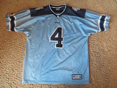 Men s NCAA NORTH CAROLINA   4 COLOSSEUM Sewn Football Teal blue JERSEY XL 7adc14cc9