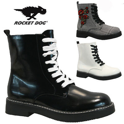 Rocket Dog Ladies Doc Punk Goth Army Winter Warm Walking Hiking Ankle Boots Size