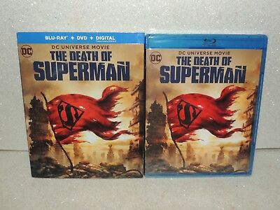 DC Universe Movie The Death Of Superman Blu-ray w/ Slip Cover NEW Sealed