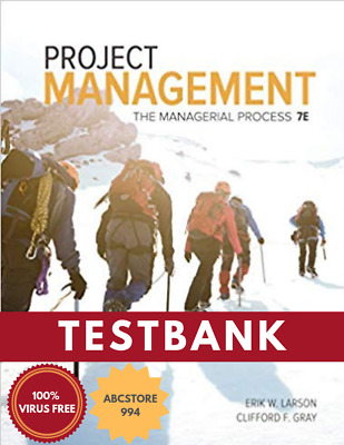 (PDF) Project Management, The Managerial Process by Clifford F (TESTBANK)