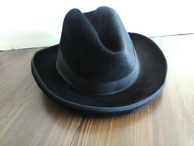 PIERRE CARDIN VINTAGE FEDORA HAT MADE IN FRANCE Black -  24.99 ... a599c945822