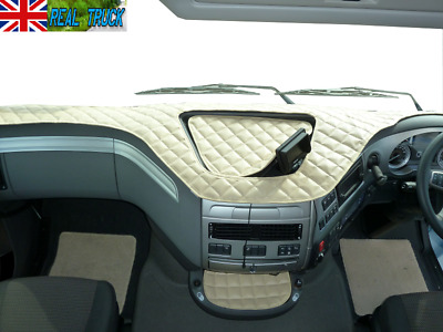 Truck Eco Leather Dash Mat Fit Daf Xf 106 -Beige