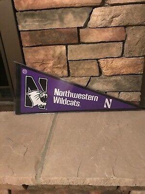 Northwestern Wildcats Full Size Pennant With Toploader Case Wincraft Sports 9d7c816d84de