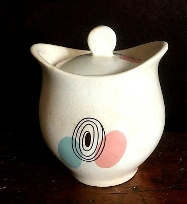 Vintage Steubenville Sugar Bowl with Lid, Mid Century Modern, Made in USA