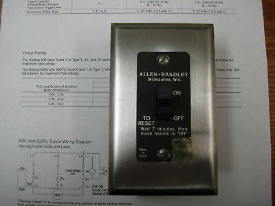Allen Bradley 600-TOX216 Motor Starting Toggle Switch 1 Phase 1 Pole 1HP Gray