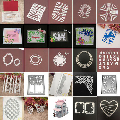 3D House Frame Metal Cutting Dies Stencil Scrapbooking Card Embossing Die-Cut