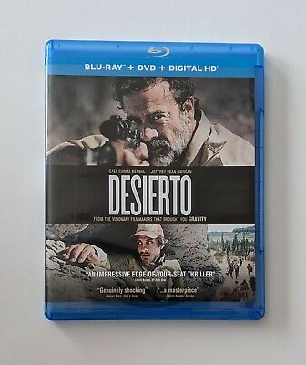 Desierto (Blu-ray Disc/DVD, 2017, 2-Disc Set) No Digital Code