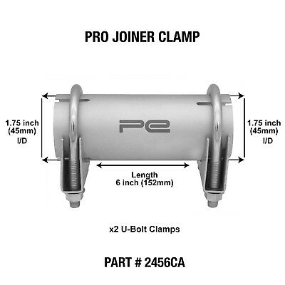 """45mm 1.75""""inch Clamp on Exhaust pipe joiner connector sleeve tube repair"""