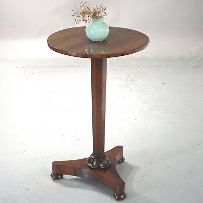 Antique Rosewood Lamp Wine Table - William IV, S & H Jewell (delivery £40)