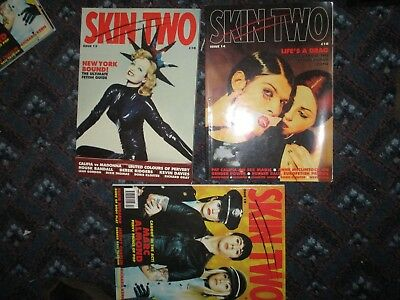 mens vintage magazine 3 x skin two. no .13,14 and 19