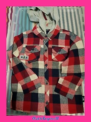Brand New A & J Carter Boys/girls  Red Hooded (Removable Hood) Shirt 12-18 Month