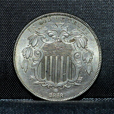 1868 Shield Nickel ✪ Bu Uncirculated Unc ✪ 5C L@@K Now Choice ◢Trusted◣
