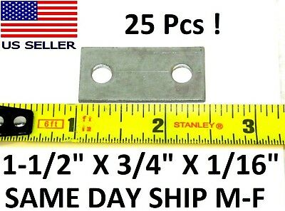 "(25 Pc) 1-1/2"" X 3/4"" X 1/16"" Repair Mending Joining Strike Plate Hardware Hf"
