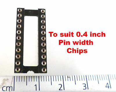 SAE TDH4000-22B Turned Pin IC Sckt 22 Way 0.4 Inch Width Gold Inner MBF006H