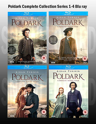 Poldark Complete Collection Series 1-4 Blu ray Box Set Season 1 2 3 4 UK New R2
