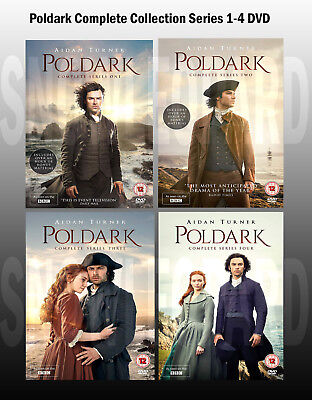 Poldark Complete Collection Series 1-4 DVD Box Set Season 1 2 3 4 UK Rel New R2