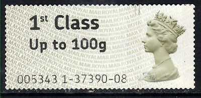 GB 2008 - 15 QE2 1st to 100gms Post & Go large print ( F1431 )