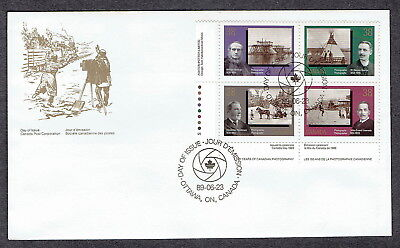 Canada FDC - 1989 - Canadian Photography, Scott # 1240a, Plate Block