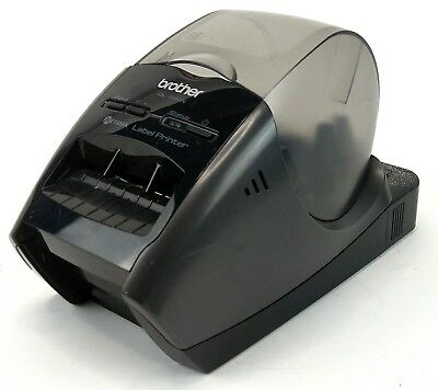Brother QL-580N Label Printer Working -Missing Front Tray -1 Broken Back Hinge