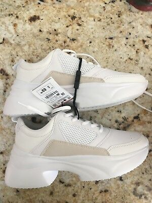 dc3de2c491b81 ZARA CHUNKY SOLE Sneakers White Shoes 8Uk /41Eu/10Us Ref.1417/301 ...