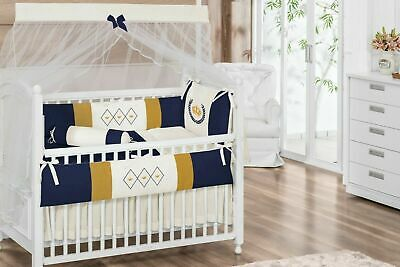 Nursery Cot Baby 3 Piece Quilt,Bumper,Fitted Sheet Bedding Bale Set Royal guards