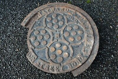 Cast Iron Coal Hole Manhole Cover Ring  Architectural / Garden Antique Reclaim