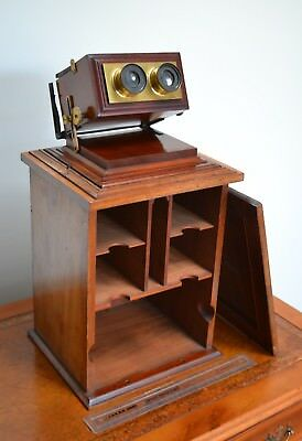 Fine Quality Smith Beck & Beck Stereoview Viewer Stereoscope Cabinet Card Glass
