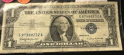 1957 $1 Dollar United States Silver Certificate Collector Note