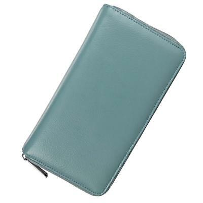 Leather Credit Card Wallet with Cash Compartment RFID Blocking Perfect Gift
