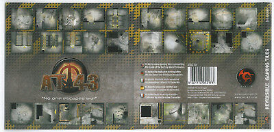 Rare OOP Rackham AT-43 Reversible Gaming Tiles