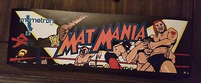 Mat Mania marquee sticker. 3.25 x10.5 (Buy 3 stickers, GET ONE FREE!)